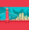 bridge to megalopolis vector image vector image