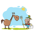 Cartoon horse vector image vector image