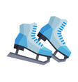 classic ice figure skates winter sport equipment vector image