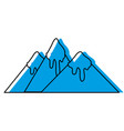 color natural mountains with snow in the tip vector image