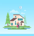 country house - modern flat design style vector image vector image