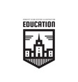 education building - logo template concept vector image vector image