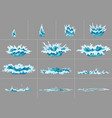 element water splashes animation frame set vector image vector image