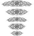ethnic indian line art border vector image vector image