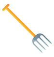 farm fork icon cartoon style vector image vector image