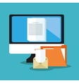 File document and laptop design vector image vector image