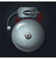 fire alarm system vintage signaling retro vector image