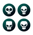 flat style skull icon vector image