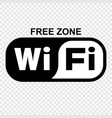 free wi fi sign vector image vector image