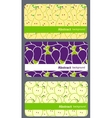 fruit business cards set vector image