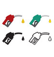 fuel nozzle and oil drop oil energy icon vector image vector image