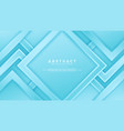 geometry blue background with 3d style vector image vector image