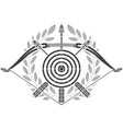 glory of archery vector image vector image