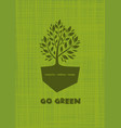 go green recycle reduce reuse logo design vector image