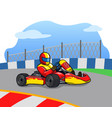 gokart racer on the race track vector image