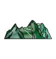 green mountain natural landscape flora image vector image vector image