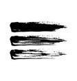 grunge paint brush stroke set vector image