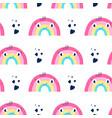 hand drawing rainbow pattern vector image vector image