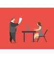 Head and Secretary vector image vector image