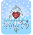 heart in cage vector image vector image
