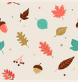 hello autumn seamless pattern vector image vector image