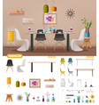 interior creator dinning room vector image vector image
