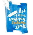 International labor day The first of may vector image