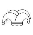 jester hat cartoon vector image