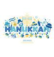 jewish holiday hanukkah greeting card and vector image vector image