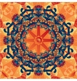 mandala decorative background Template frame vector image