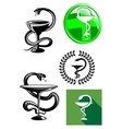 Medicine and pharmacy icons vector image