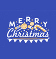 merry christmas wish written with elegant cursive vector image vector image