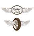 Motorcycle club logo emblem vector image vector image