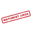Naturist Area Rubber Stamp vector image vector image