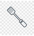 paddle concept linear icon isolated on vector image