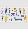 pandemic coronavirus people set vector image vector image