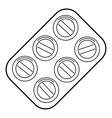 Pills icon outline style vector image vector image