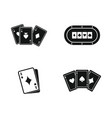 playing cards icon set simple style vector image vector image