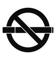 public no smoking icon simple style vector image