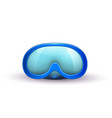 realistic scuba diving mask goggles vector image vector image