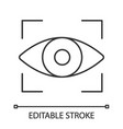 retina scan linear icon vector image vector image