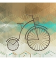 Retro Bicycle on a Color Background vector image vector image