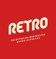 retro style font design eighties inspired vector image vector image