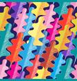 seamless pattern autumn oak leaves vector image