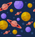 seamless pattern with colorful planets vector image vector image