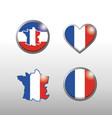 set france map and flag emblem decoration vector image