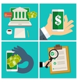 Set of Internet banking concept vector image vector image