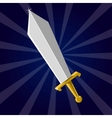 Shining sword vector image vector image