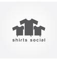 shirts social concept design template vector image