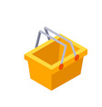 shopping basket flat icon vector image vector image